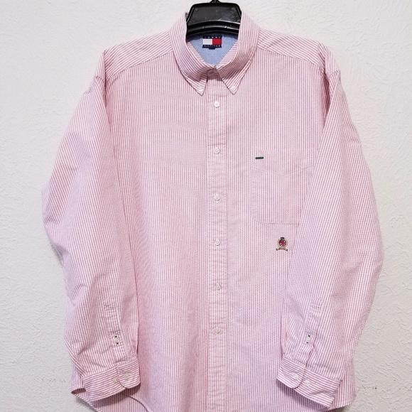 64bae986 Tommy Hilfiger Shirts | Mens Dress Shirt Size Xl Striped | Poshmark
